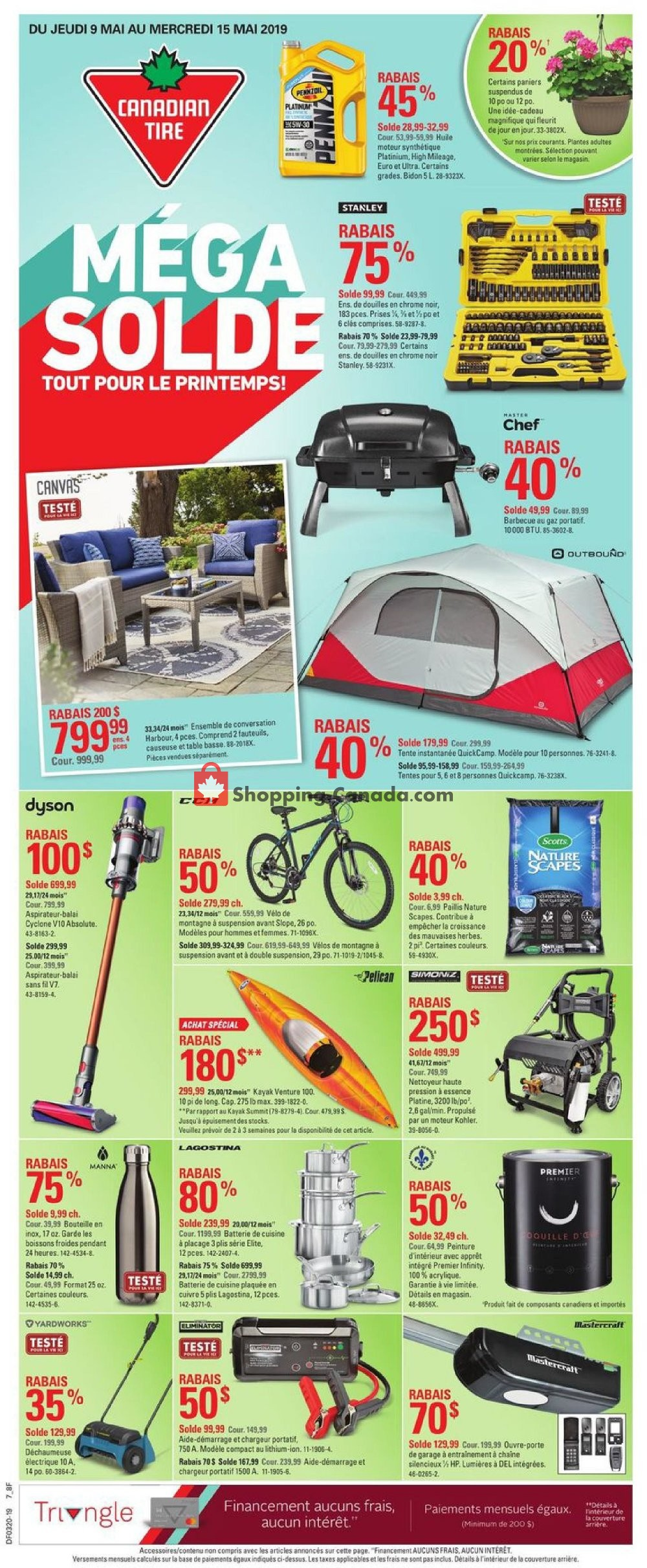 Flyer Canadian Tire Canada - from Thursday May 9, 2019 to Wednesday May 15, 2019
