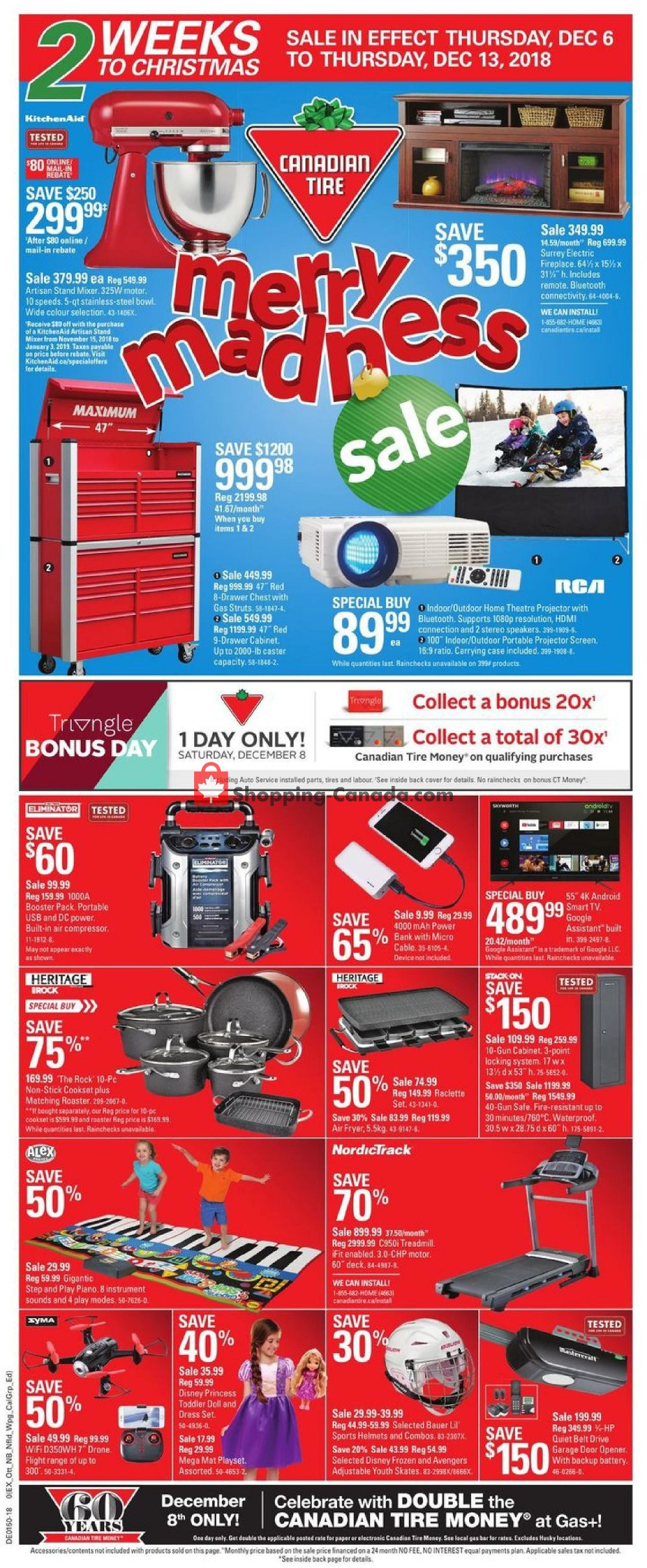 Flyer Canadian Tire Canada - from Thursday December 6, 2018 to Thursday December 13, 2018