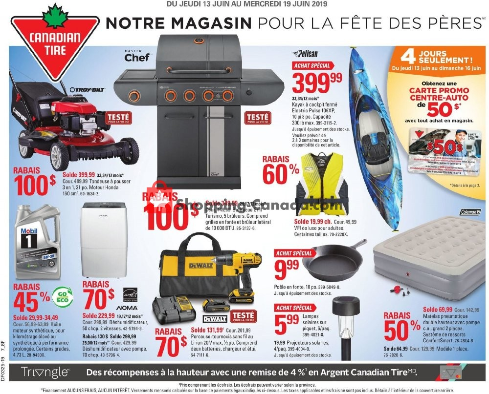 Flyer Canadian Tire Canada - from Thursday June 13, 2019 to Wednesday June 19, 2019