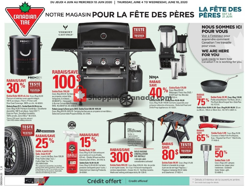 Flyer Canadian Tire Canada - from Thursday June 4, 2020 to Wednesday June 10, 2020
