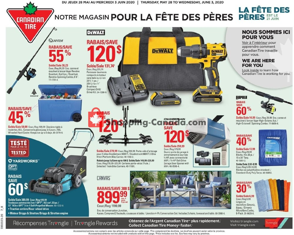 Flyer Canadian Tire Canada - from Thursday May 28, 2020 to Wednesday June 3, 2020