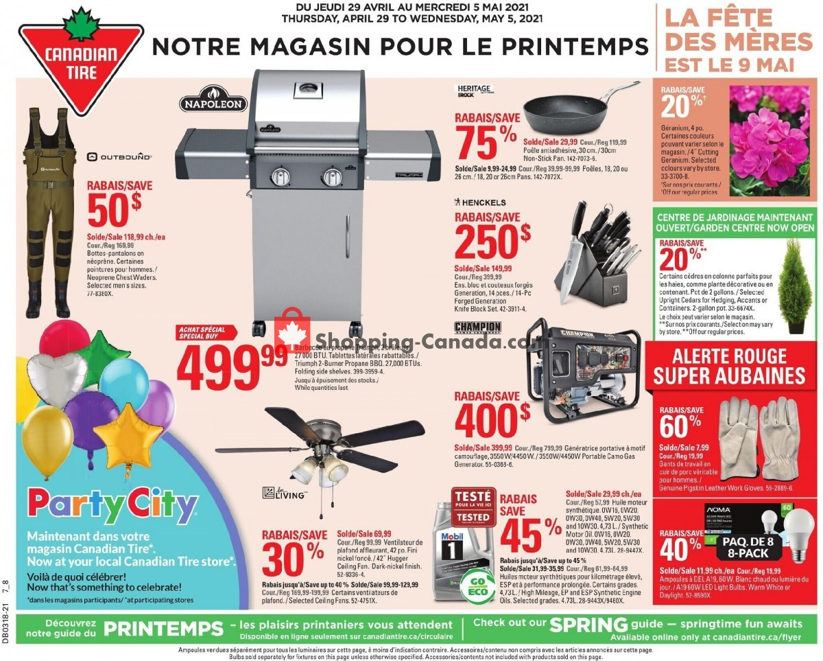 Flyer Canadian Tire Canada - from Thursday April 29, 2021 to Wednesday May 5, 2021