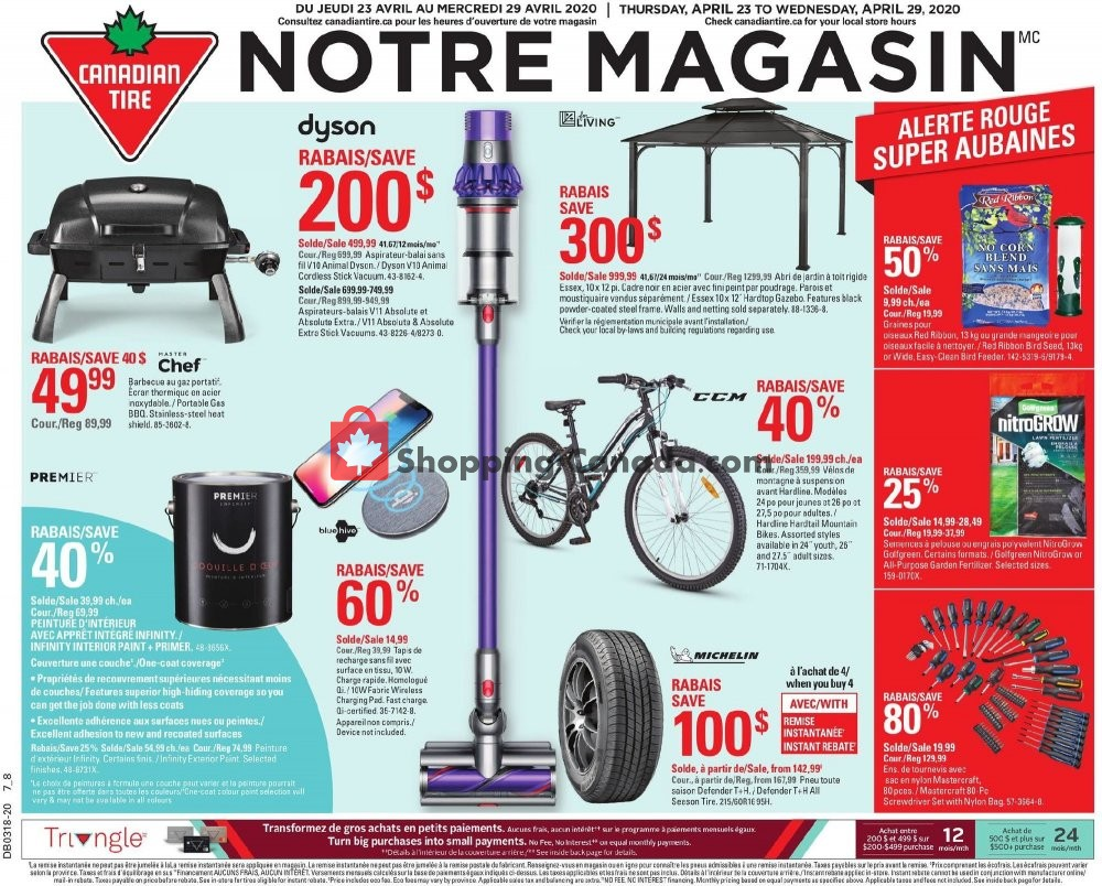 Flyer Canadian Tire Canada - from Thursday April 23, 2020 to Wednesday April 29, 2020