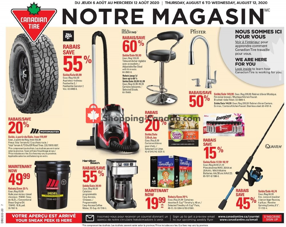 Flyer Canadian Tire Canada - from Thursday August 6, 2020 to Wednesday August 12, 2020