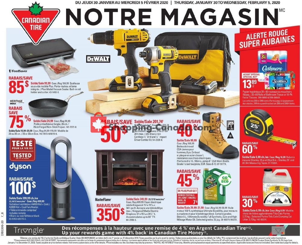Flyer Canadian Tire Canada - from Thursday January 30, 2020 to Wednesday February 5, 2020