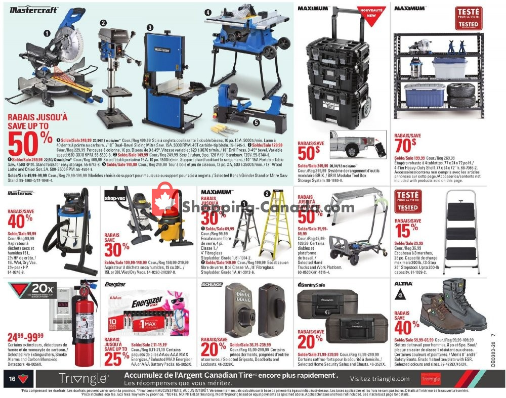 Flyer Canadian Tire Canada - from Thursday January 9, 2020 to Wednesday January 15, 2020