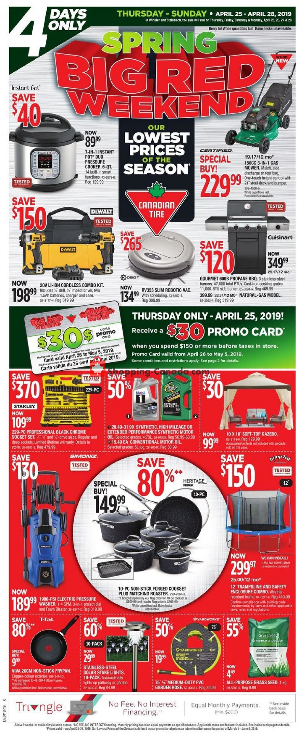 Flyer Canadian Tire Canada - from Thursday April 25, 2019 to Sunday April 28, 2019