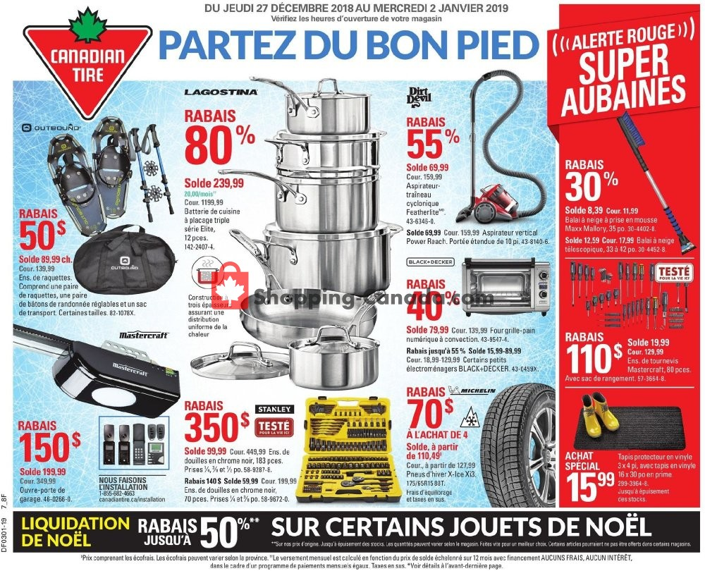 Flyer Canadian Tire Canada - from Thursday December 27, 2018 to Wednesday January 2, 2019