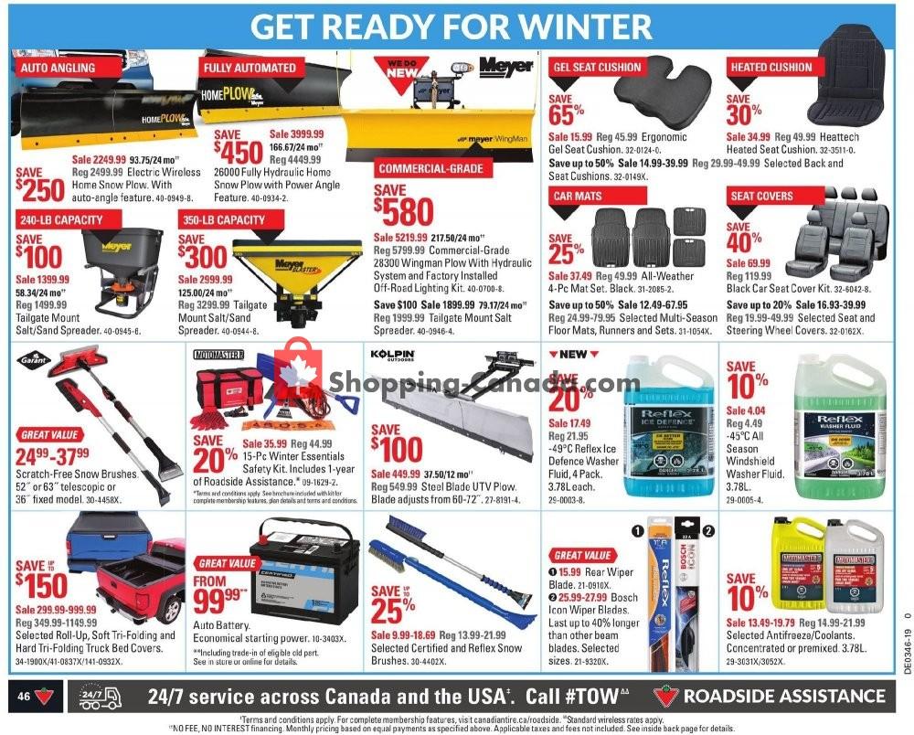 Flyer Canadian Tire Canada - from Friday November 8, 2019 to Thursday November 14, 2019