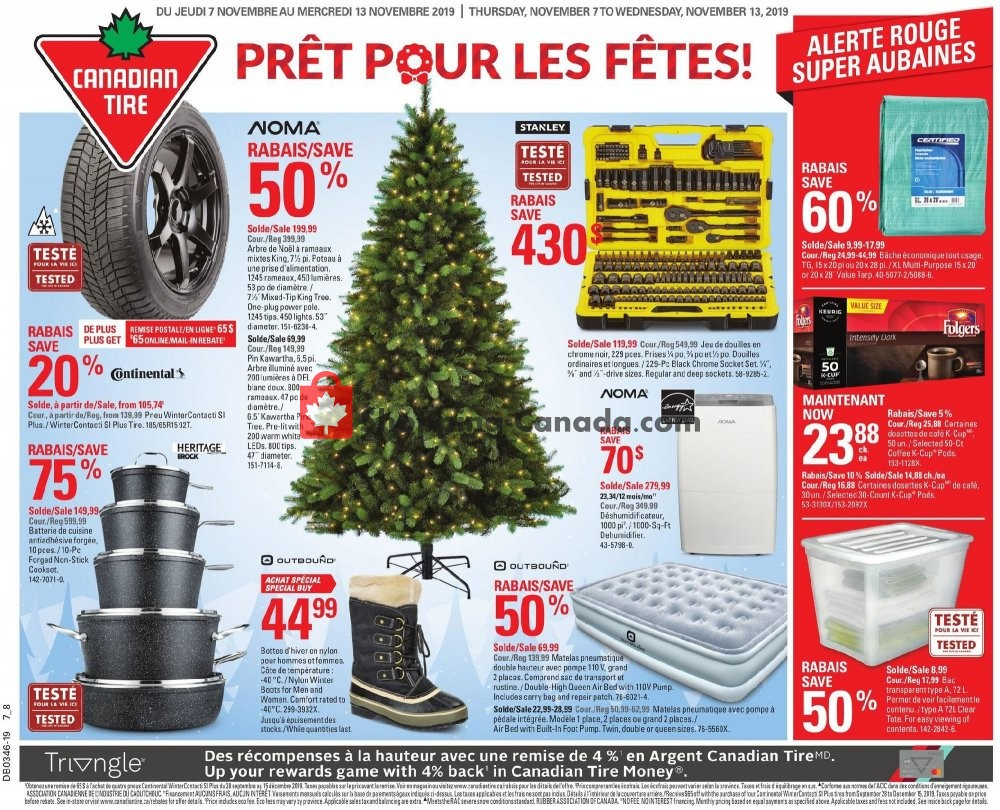 Flyer Canadian Tire Canada - from Thursday November 7, 2019 to Wednesday November 13, 2019