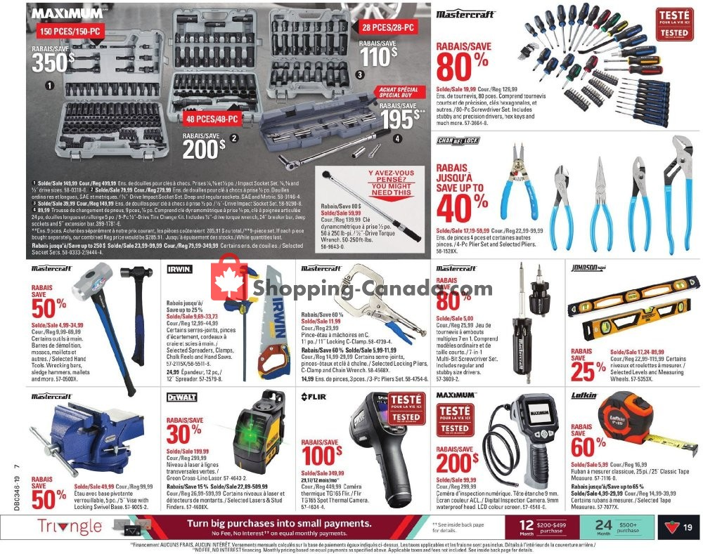 Flyer Canadian Tire Canada - from Thursday November 7, 2019 to Wednesday November 13, 2019