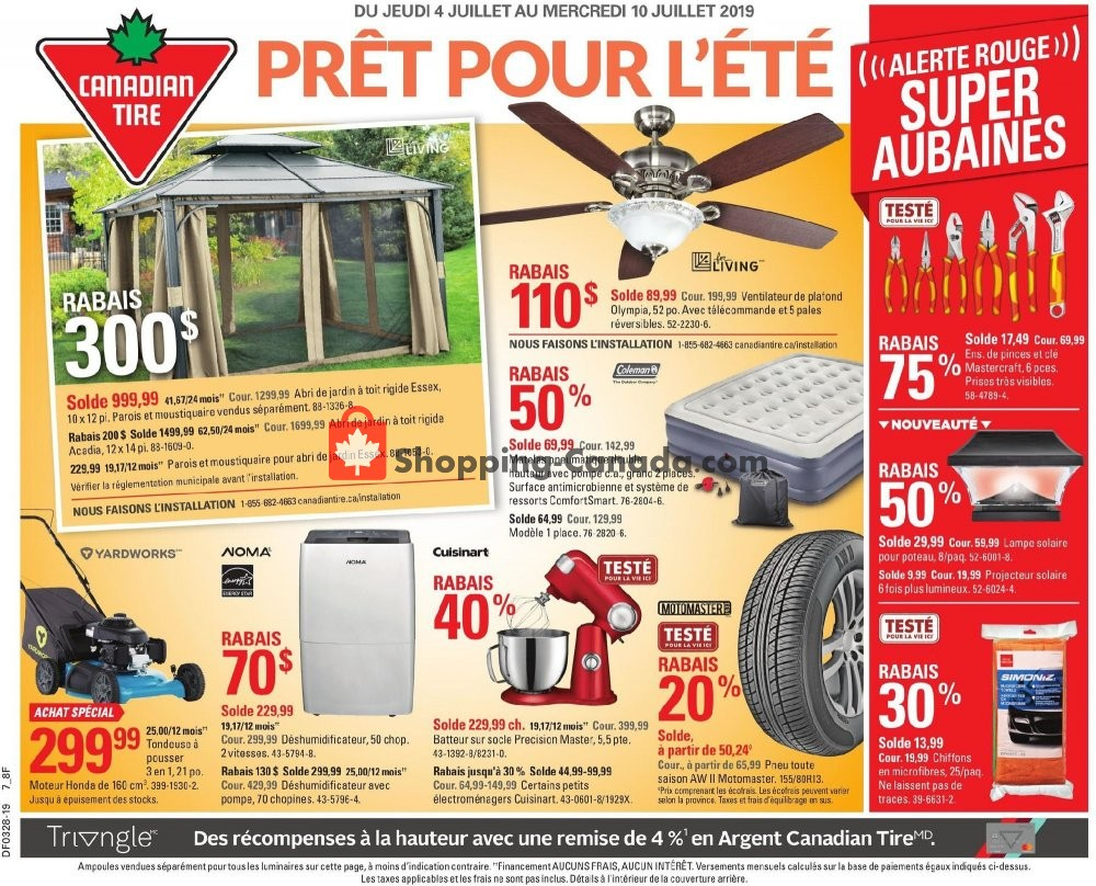 Flyer Canadian Tire Canada - from Thursday July 4, 2019 to Wednesday July 10, 2019