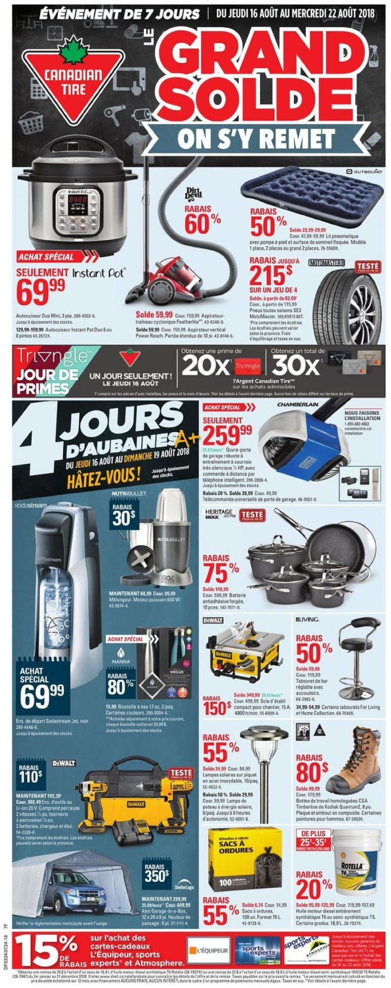 Flyer Canadian Tire Canada - from Thursday August 16, 2018 to Wednesday August 22, 2018