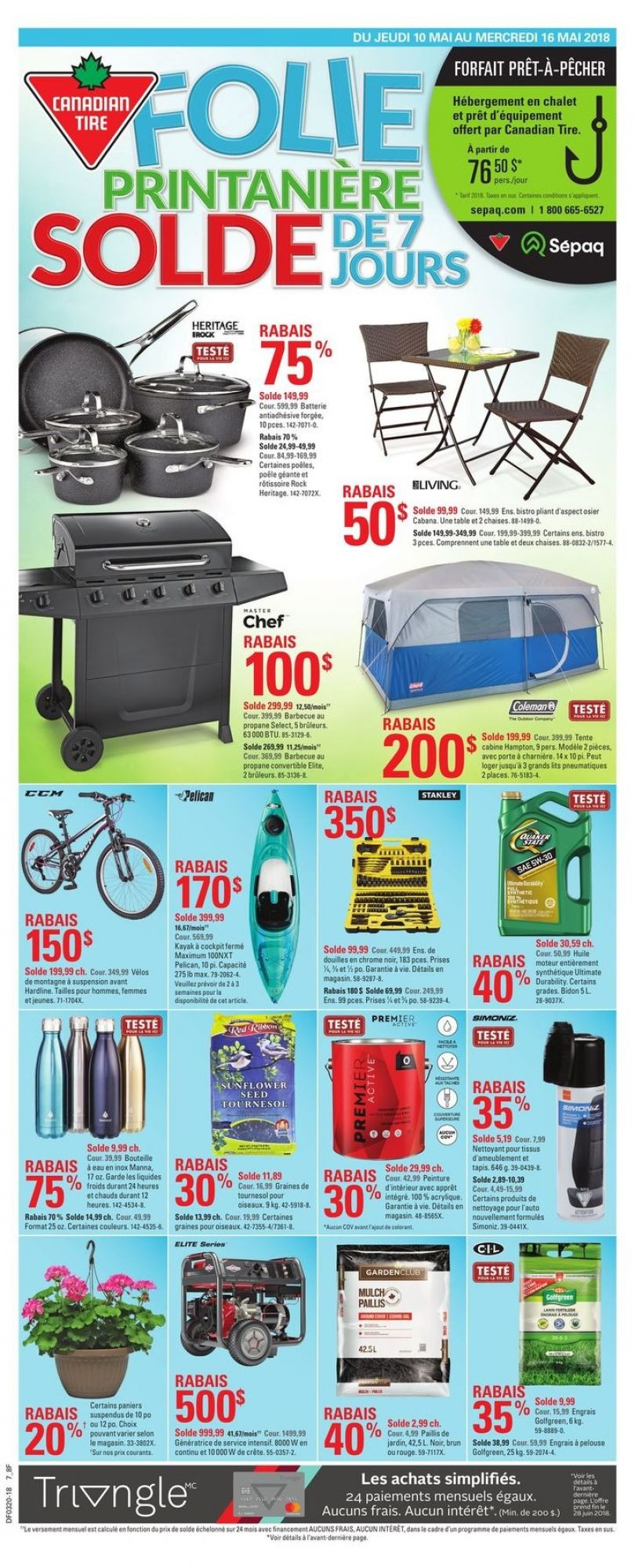 Flyer Canadian Tire Canada - from Thursday May 10, 2018 to Wednesday May 16, 2018