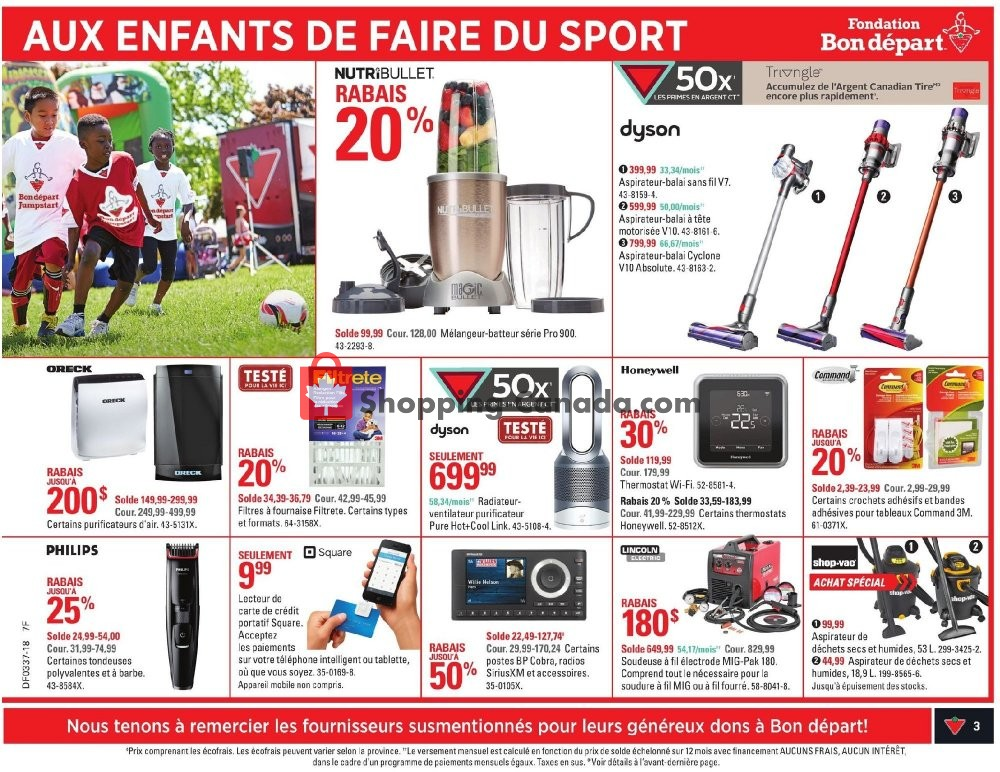 Flyer Canadian Tire Canada - from Thursday September 6, 2018 to Wednesday September 12, 2018