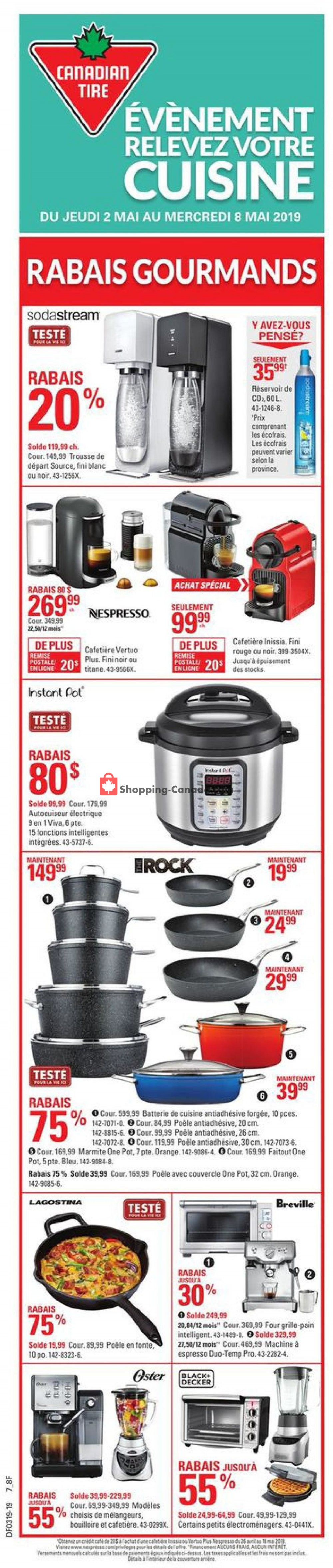 Flyer Canadian Tire Canada - from Thursday May 2, 2019 to Wednesday May 8, 2019