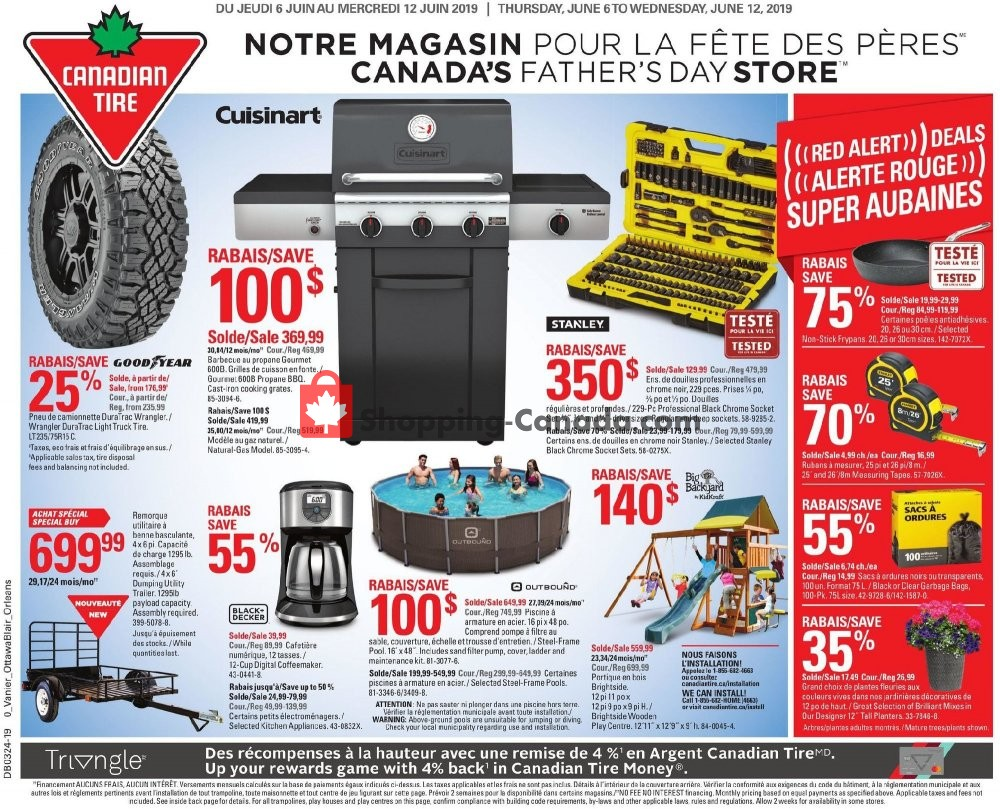 Flyer Canadian Tire Canada - from Thursday June 6, 2019 to Wednesday June 12, 2019