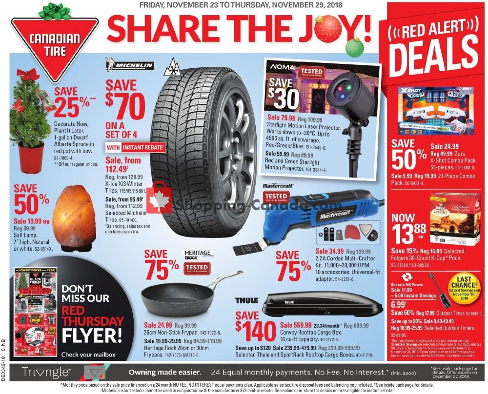 Flyer Canadian Tire Canada - from Friday November 23, 2018 to Thursday November 29, 2018