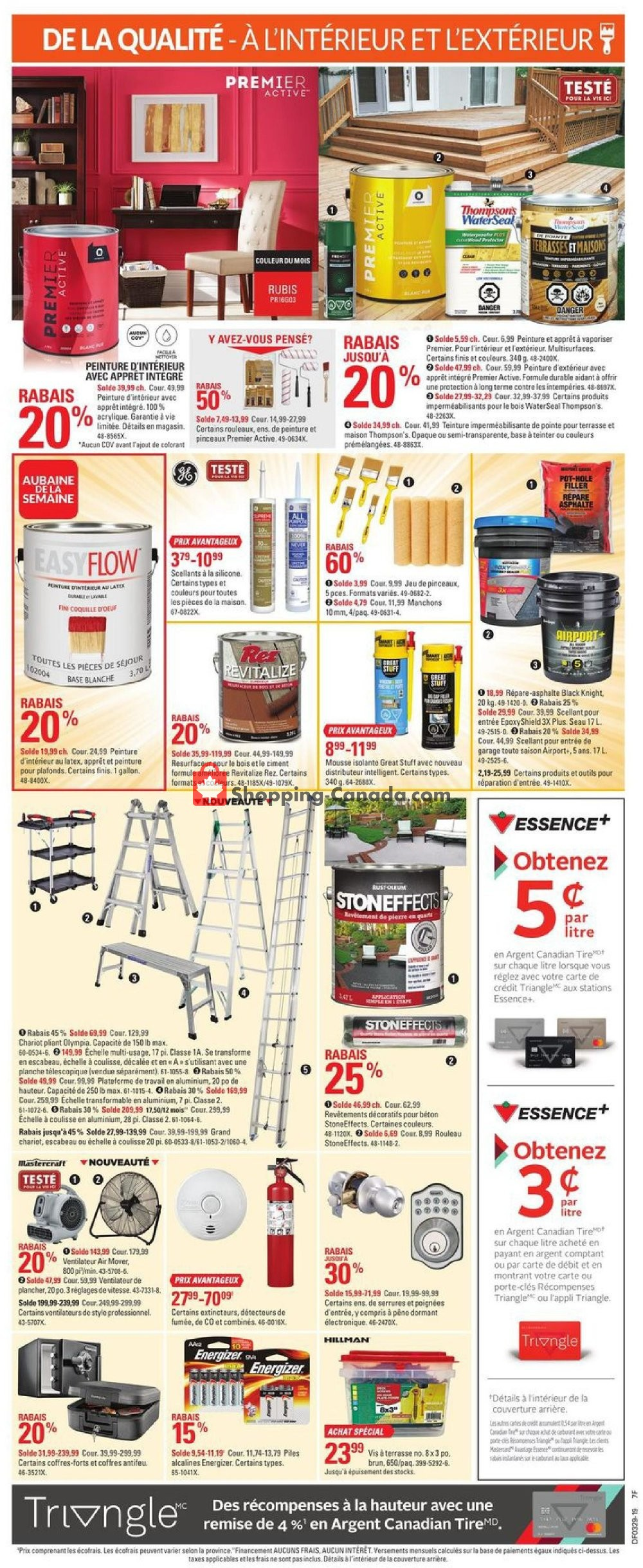 Flyer Canadian Tire Canada - from Thursday July 11, 2019 to Wednesday July 17, 2019