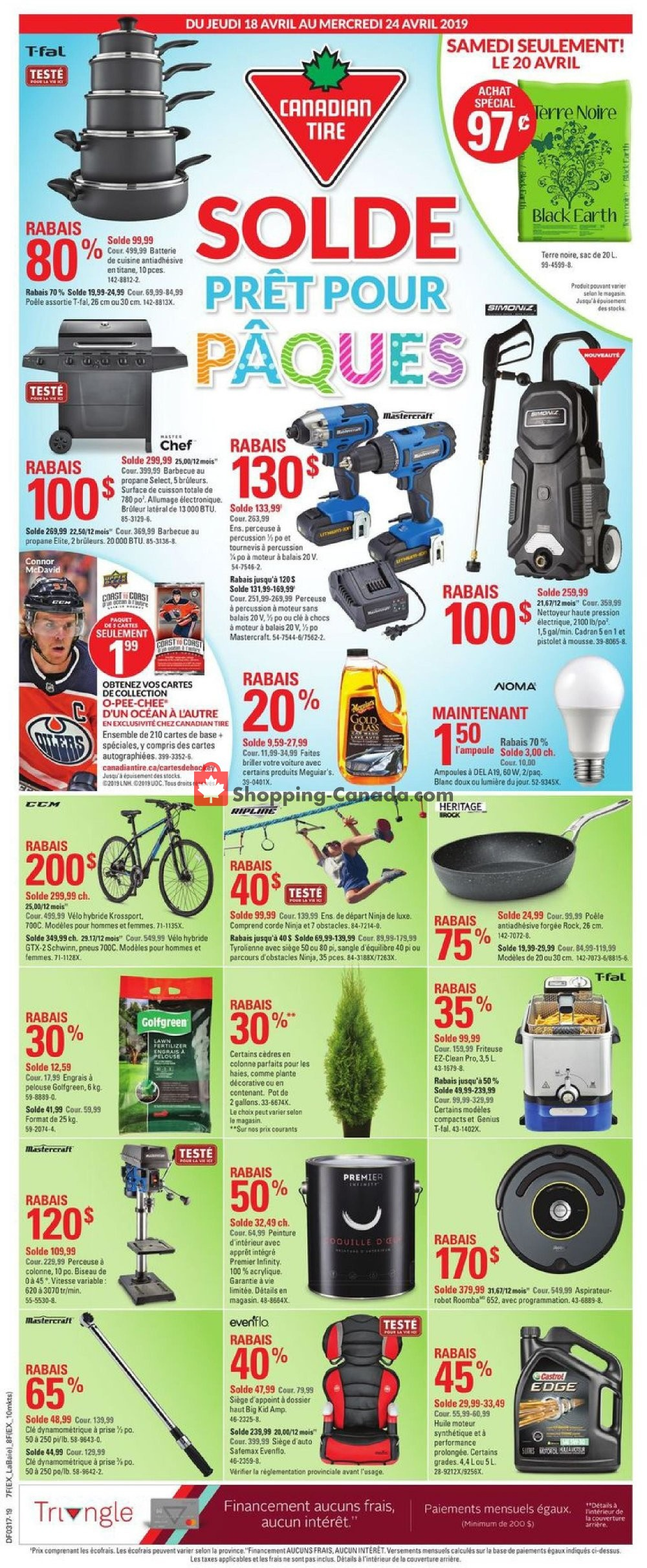 Flyer Canadian Tire Canada - from Thursday April 18, 2019 to Wednesday April 24, 2019