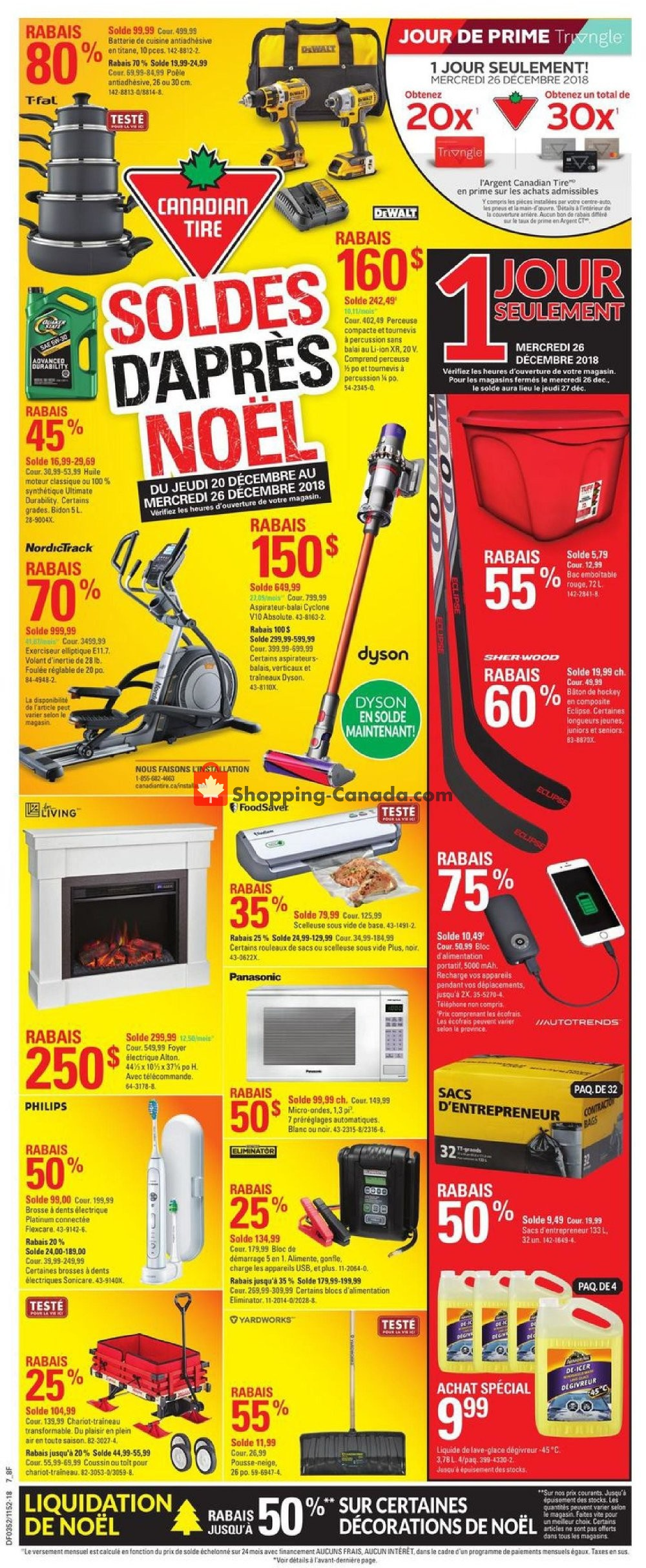 Flyer Canadian Tire Canada - from Thursday December 20, 2018 to Wednesday December 26, 2018