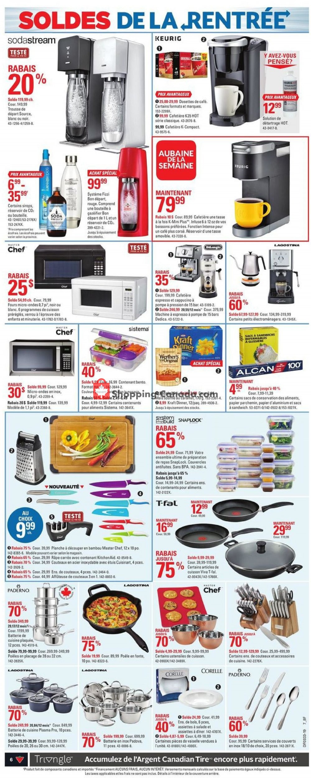 Flyer Canadian Tire Canada - from Thursday August 8, 2019 to Wednesday August 14, 2019