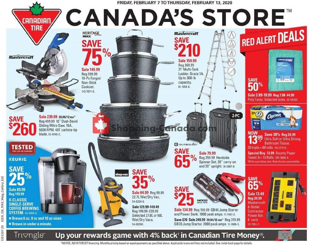 Flyer Canadian Tire Canada - from Friday February 7, 2020 to Thursday February 13, 2020