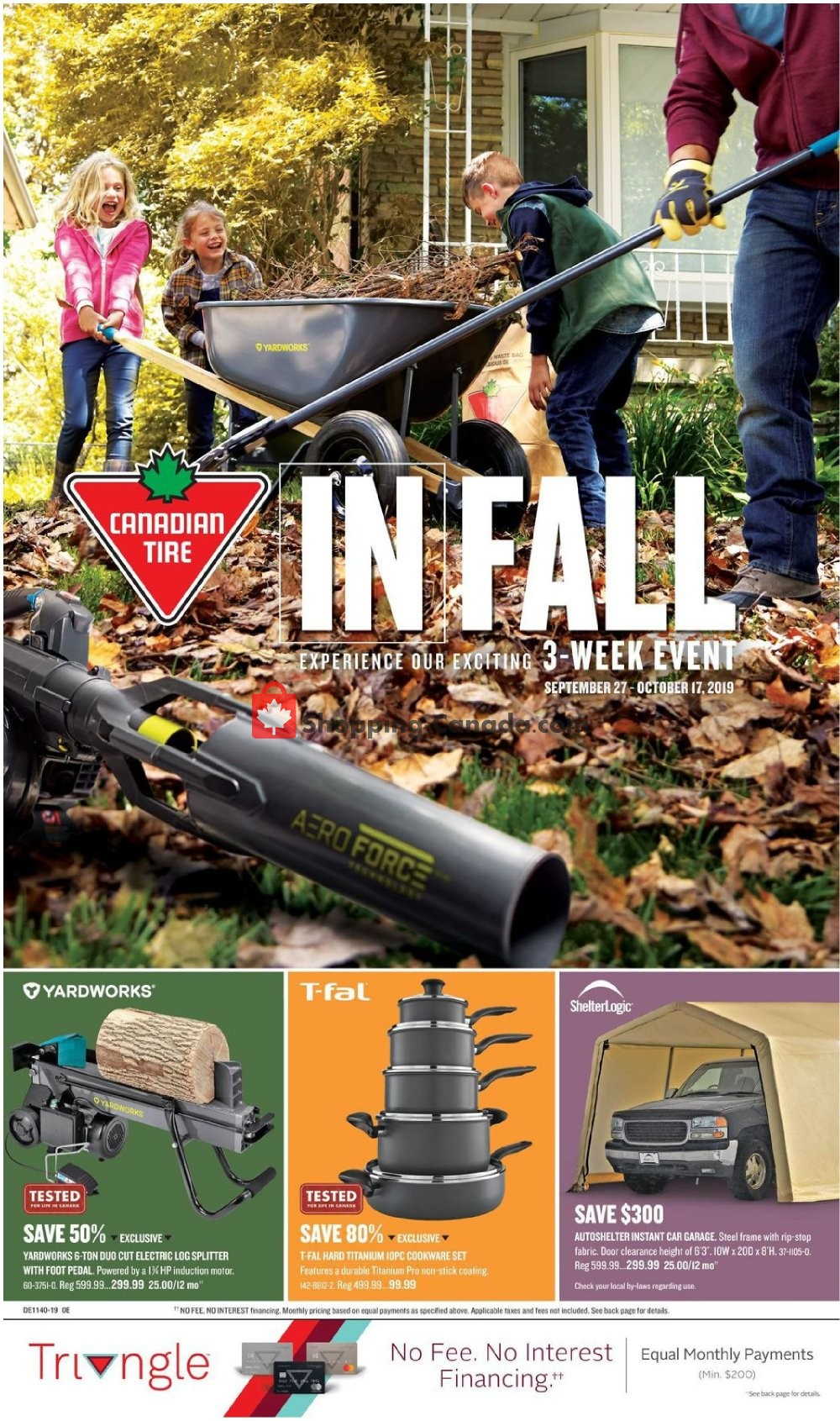 Flyer Canadian Tire Canada - from Friday September 27, 2019 to Thursday October 17, 2019