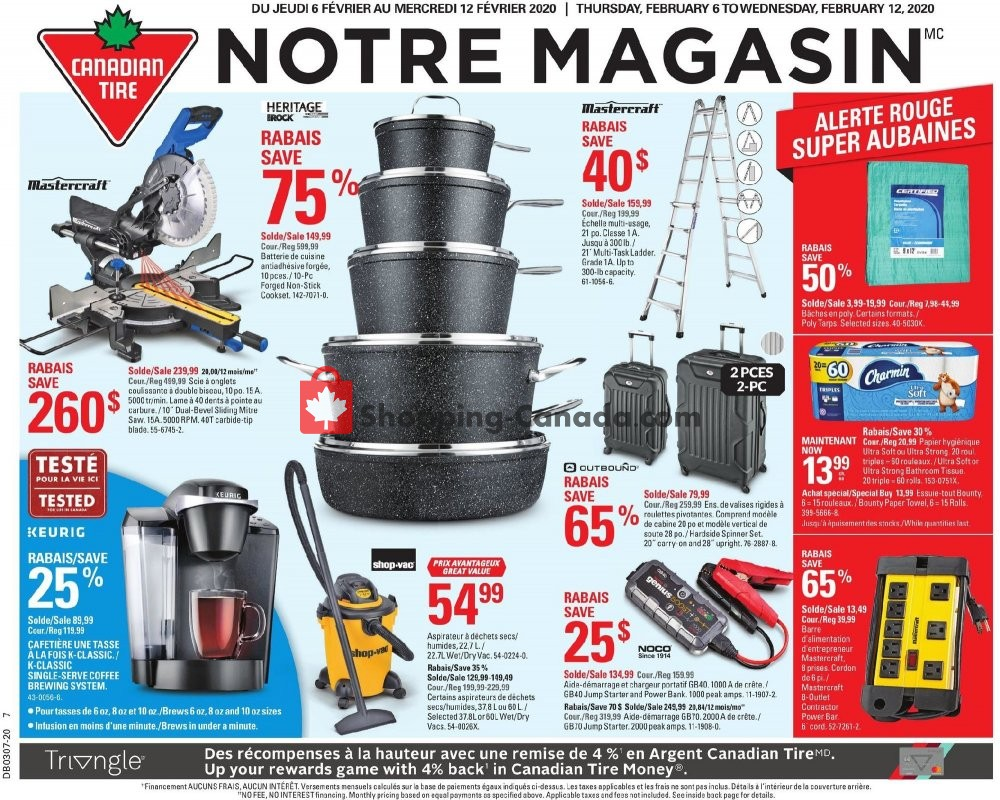 Flyer Canadian Tire Canada - from Thursday February 6, 2020 to Wednesday February 12, 2020