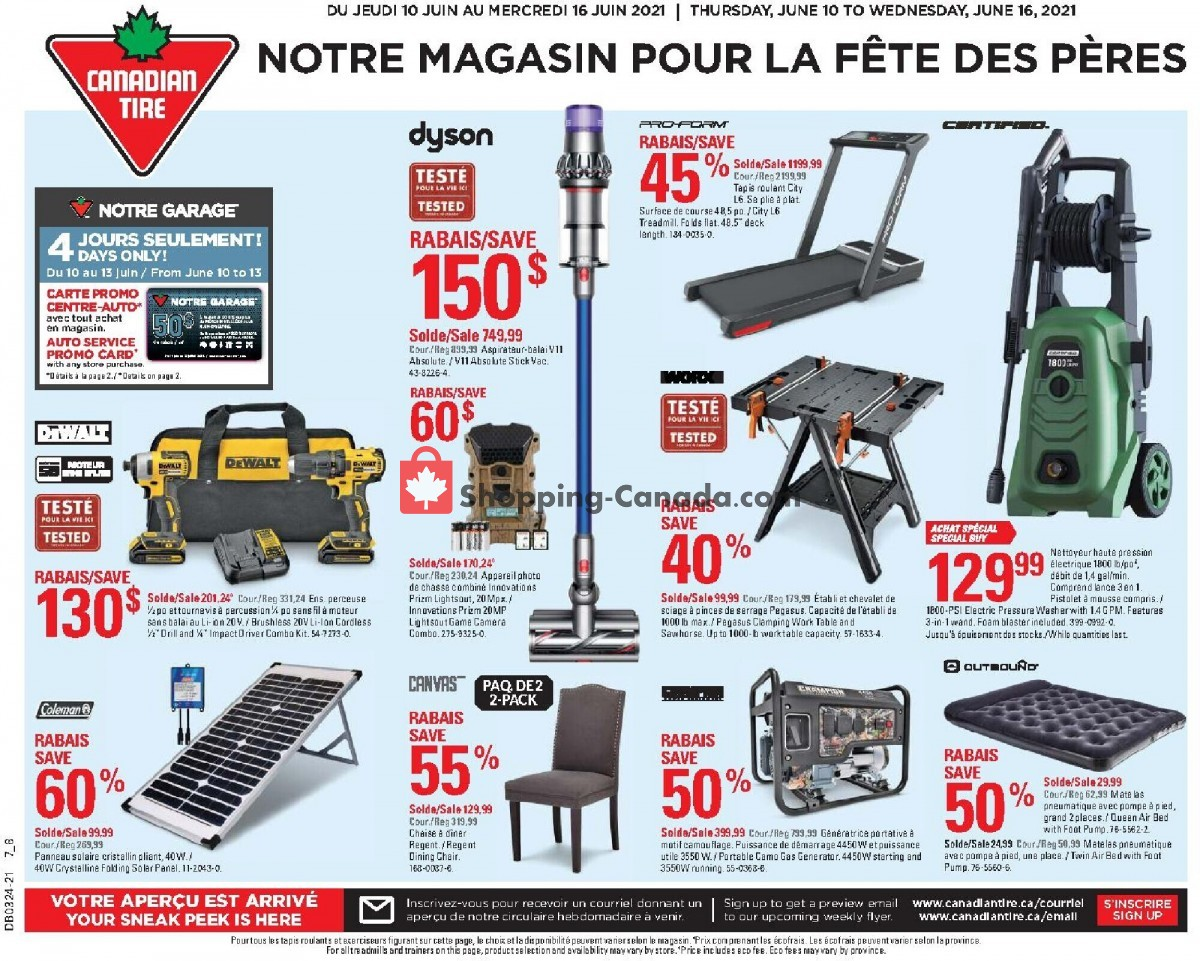 Flyer Canadian Tire Canada - from Thursday June 10, 2021 to Wednesday June 16, 2021