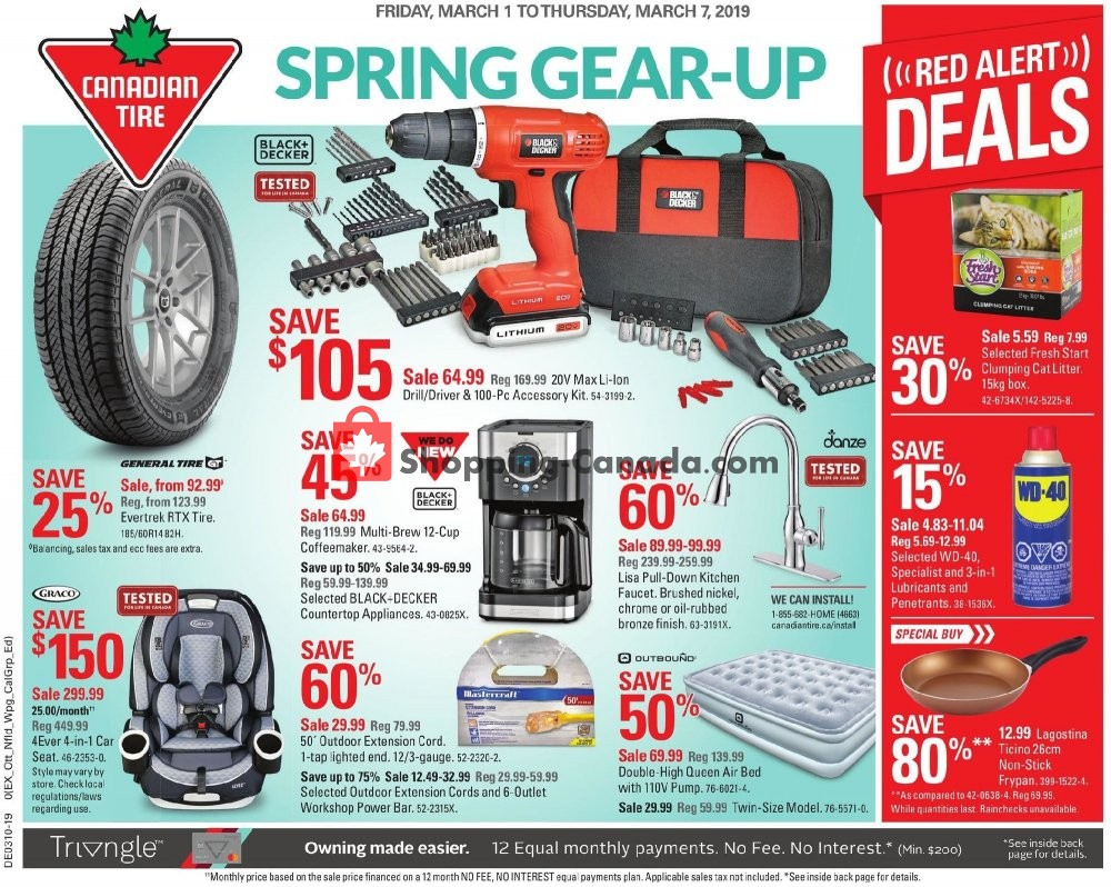 Canadian Tire Canada Flyer Spring Gear Up On March 1 March 7 2019 Shopping Canada