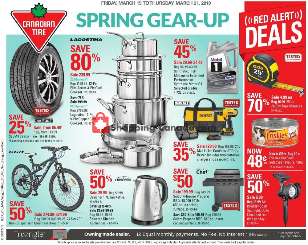 Flyer Canadian Tire Canada - from Friday March 15, 2019 to Thursday March 21, 2019