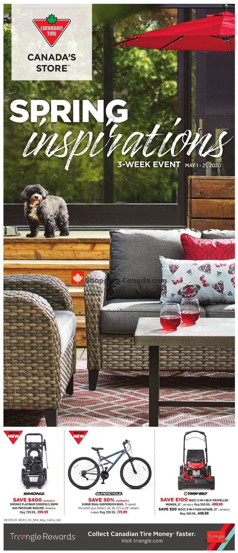 Flyer Canadian Tire Canada - from Friday May 1, 2020 to Thursday May 21, 2020