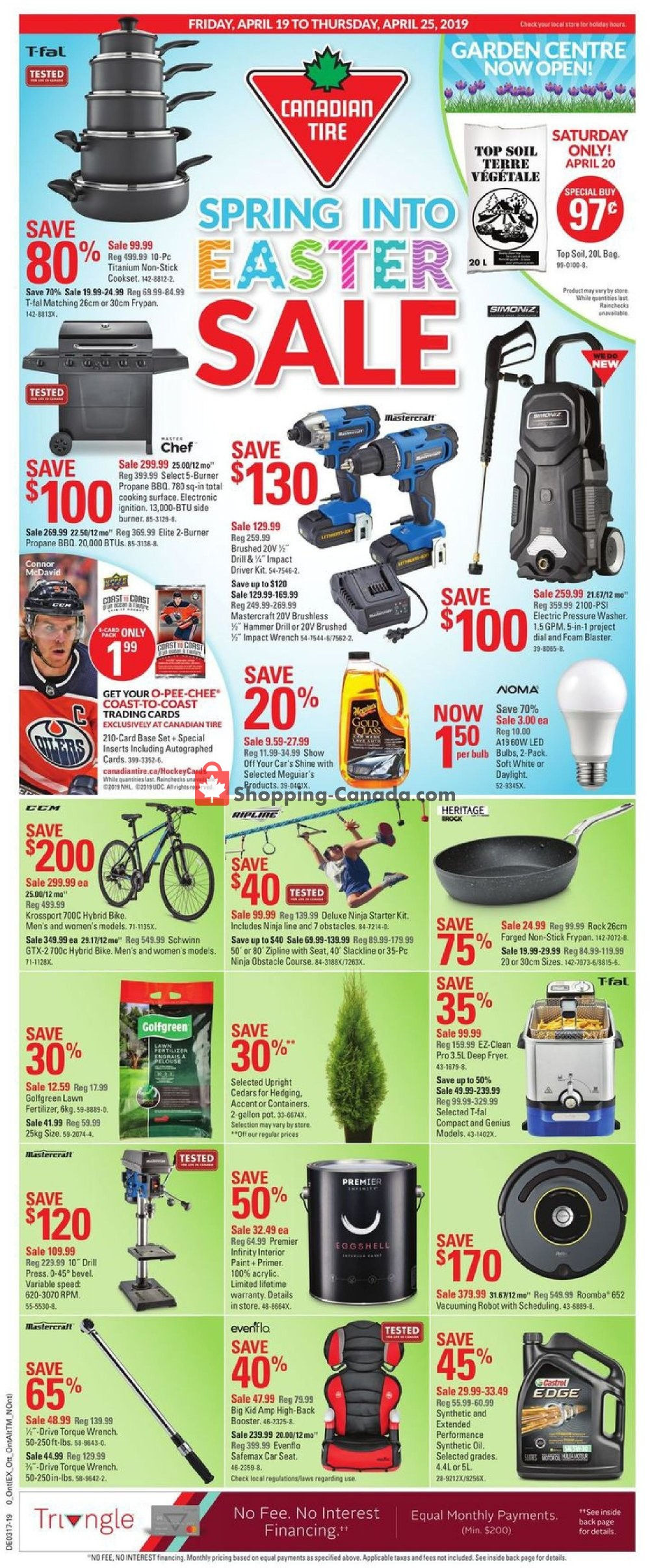 Flyer Canadian Tire Canada - from Friday April 19, 2019 to Thursday April 25, 2019