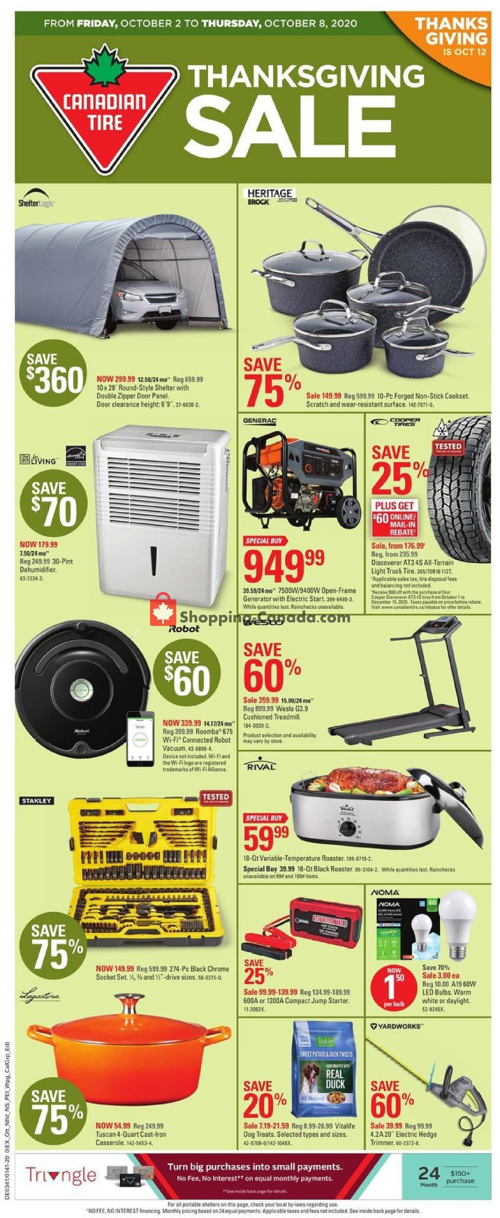 Canadian Tire Canada Flyer Thanksgiving Sale On October 2 October 8 2020 Shopping Canada