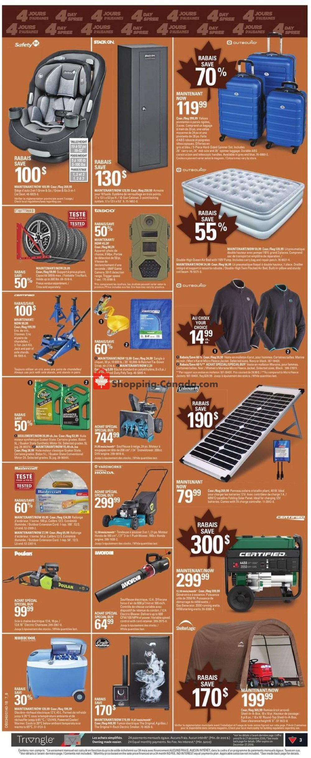 Flyer Canadian Tire Canada - from Thursday September 27, 2018 to Wednesday October 3, 2018