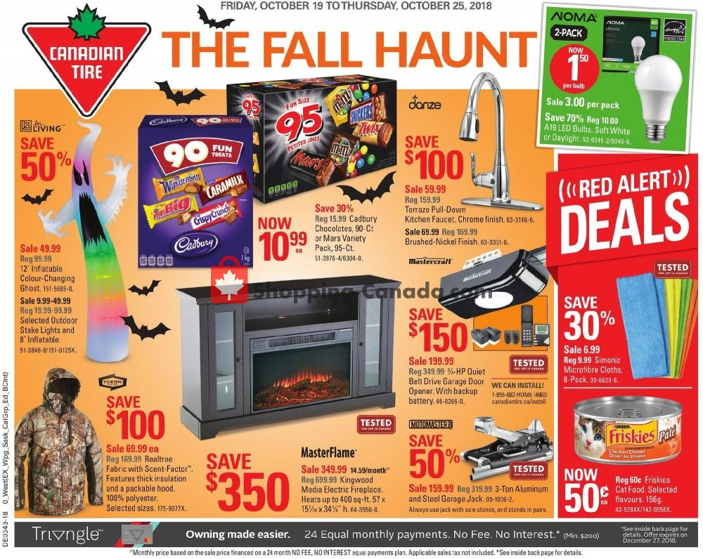 Flyer Canadian Tire Canada - from Friday October 19, 2018 to Thursday October 25, 2018