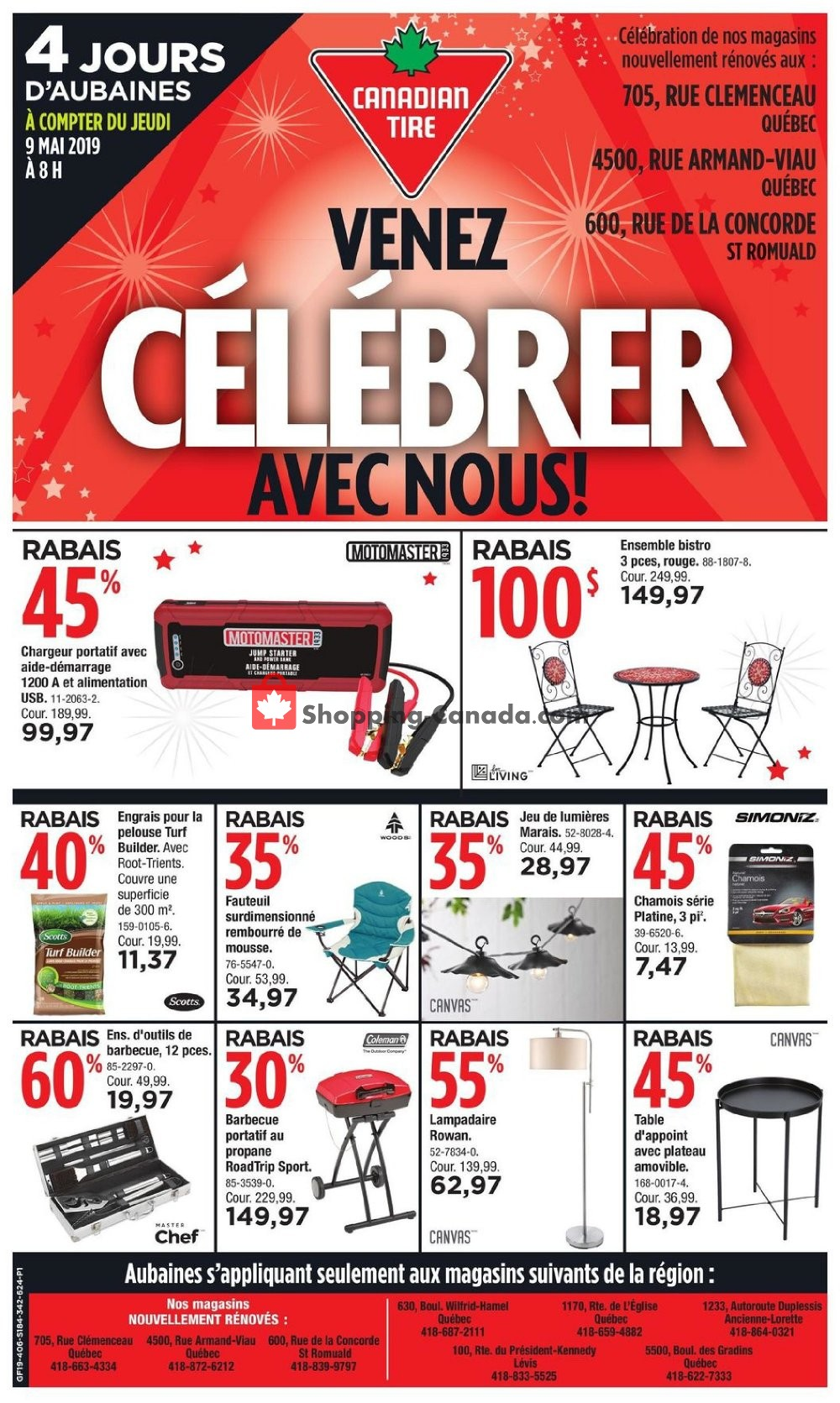 Flyer Canadian Tire Canada - from Thursday May 9, 2019 to Sunday May 12, 2019