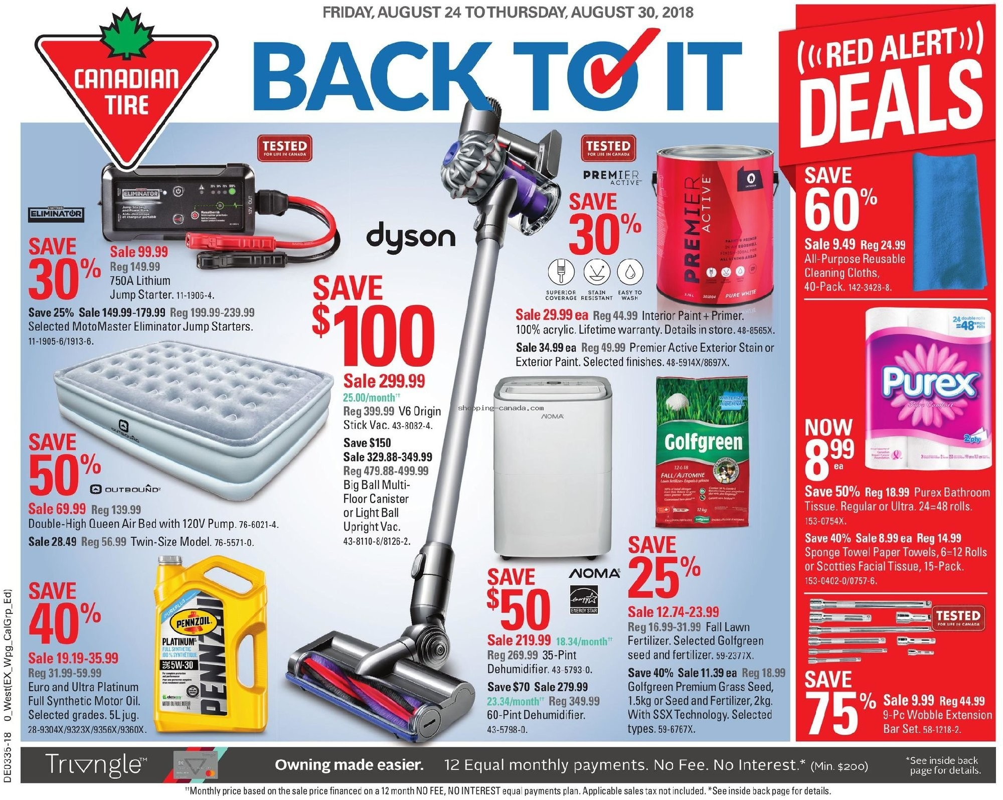Flyer Canadian Tire Canada - from Friday August 24, 2018 to Thursday August 30, 2018