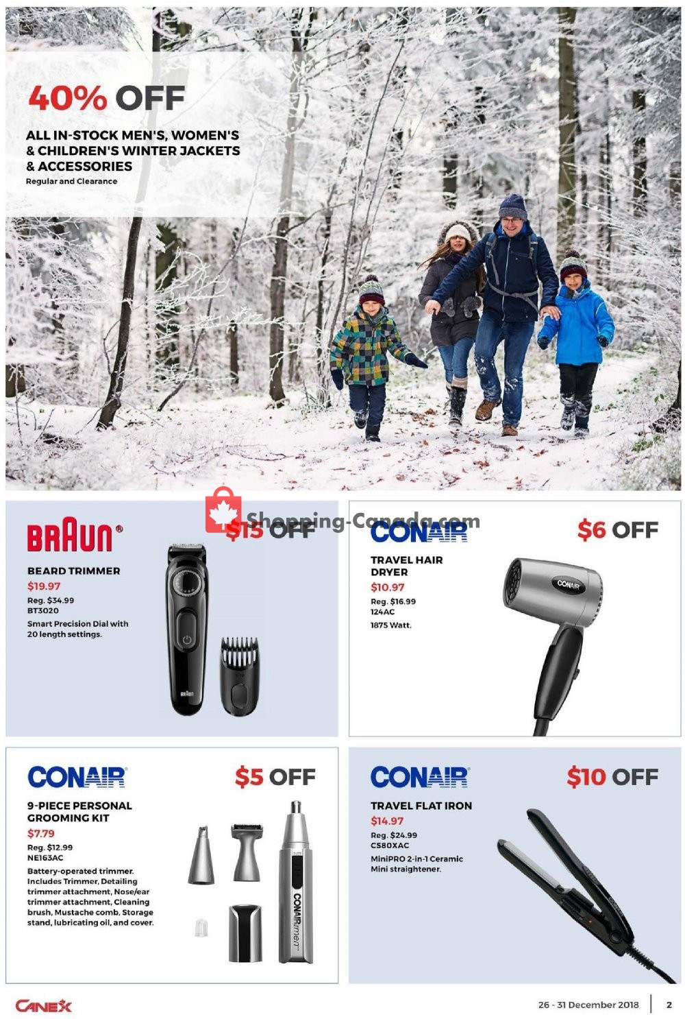 Flyer Canex Canada - from Wednesday December 26, 2018 to Monday December 31, 2018
