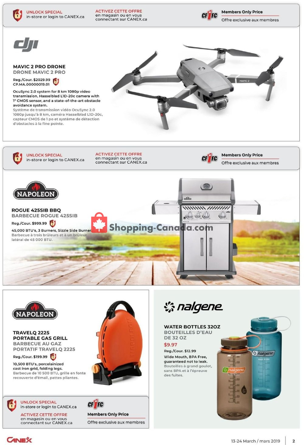 Flyer Canex Canada - from Wednesday March 13, 2019 to Sunday March 24, 2019