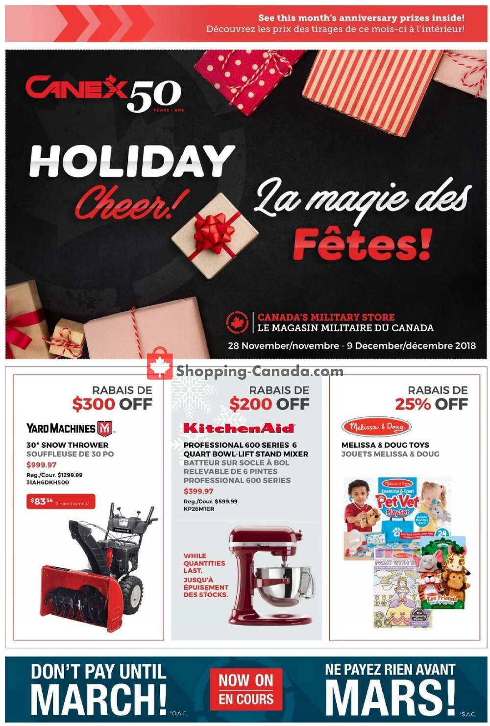 Flyer Canex Canada - from Wednesday November 28, 2018 to Sunday December 9, 2018