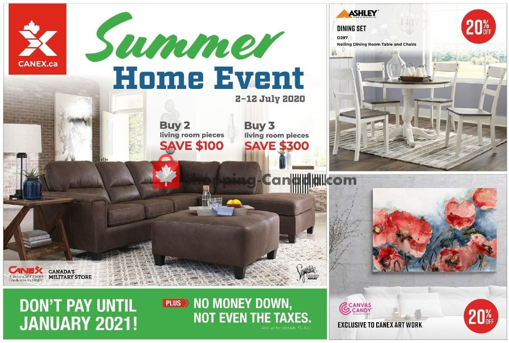 Flyer Canex Canada - from Thursday July 2, 2020 to Sunday July 12, 2020