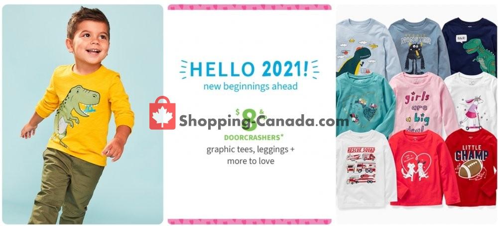 Flyer Carter's Oshkosh Canada - from Friday January 22, 2021 to Thursday January 28, 2021