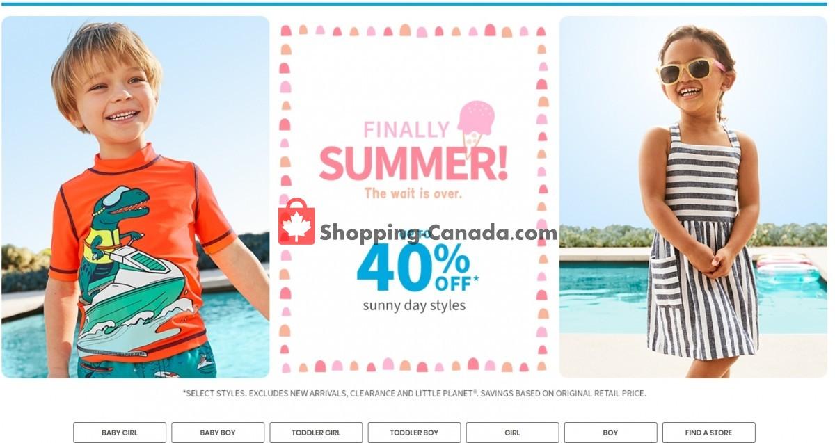 Flyer Carter's Oshkosh Canada - from Thursday June 3, 2021 to Wednesday June 9, 2021