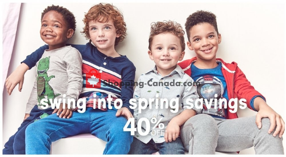 Flyer Carter's Oshkosh Canada - from Thursday March 26, 2020 to Wednesday April 1, 2020