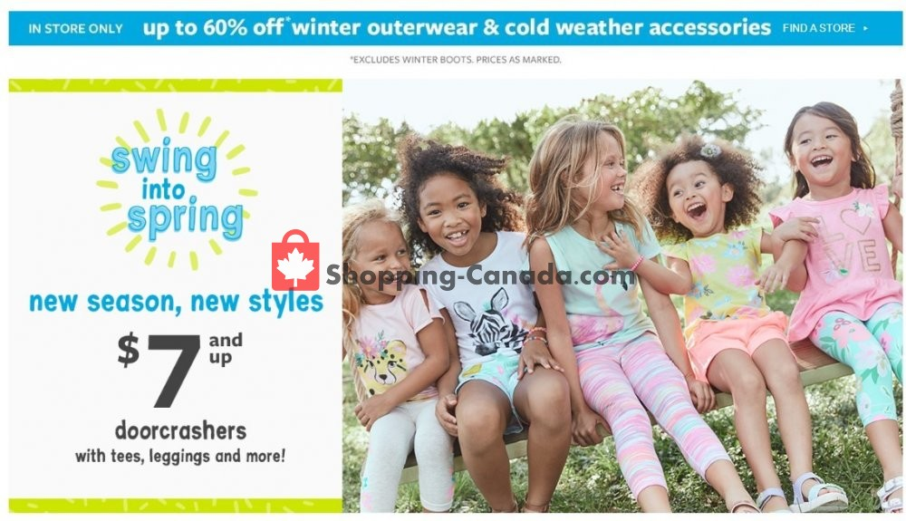 Flyer Carter's Oshkosh Canada - from Thursday March 5, 2020 to Wednesday March 11, 2020