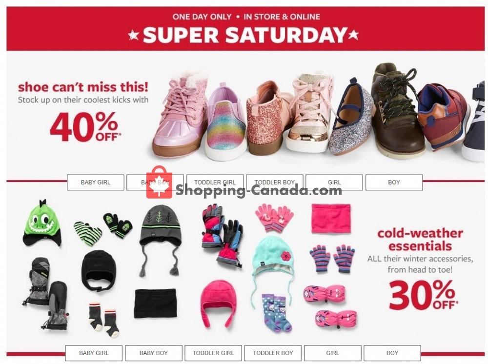 Flyer Carter's Oshkosh Canada - from Saturday November 9, 2019 to Saturday November 9, 2019