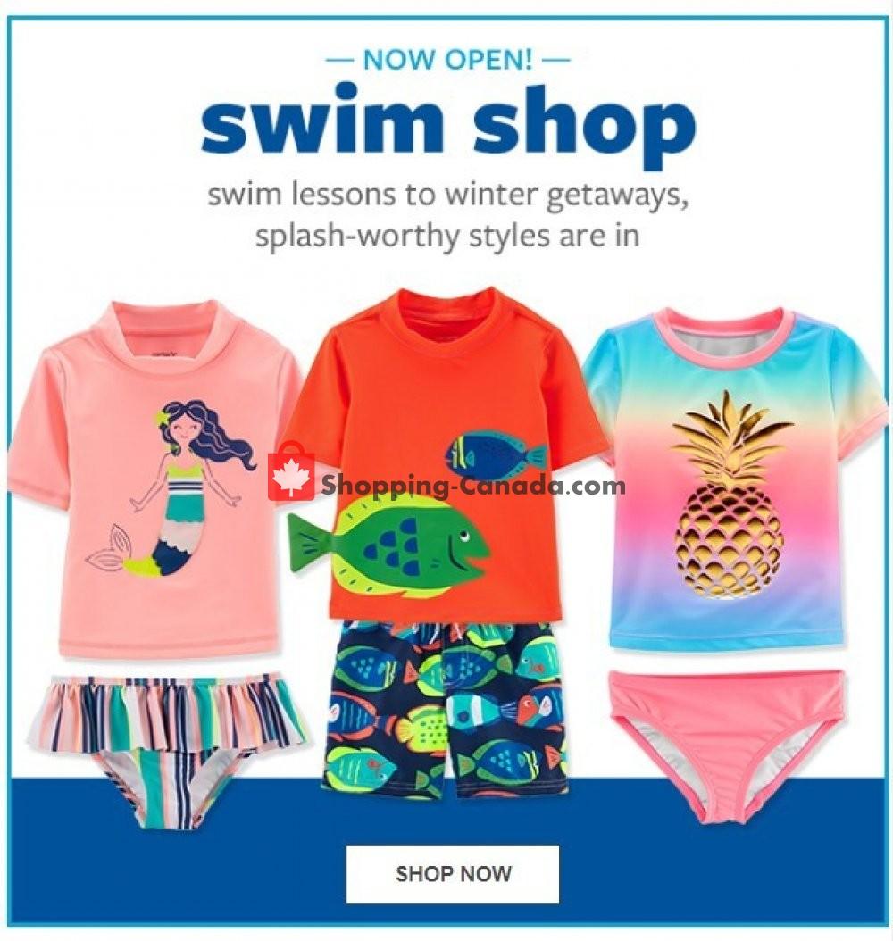 972e8e1dab64 Flyer Carter's Oshkosh (Swim Shop) Canada - from Sunday January 20, 2019 to  Saturday January 26, 2019