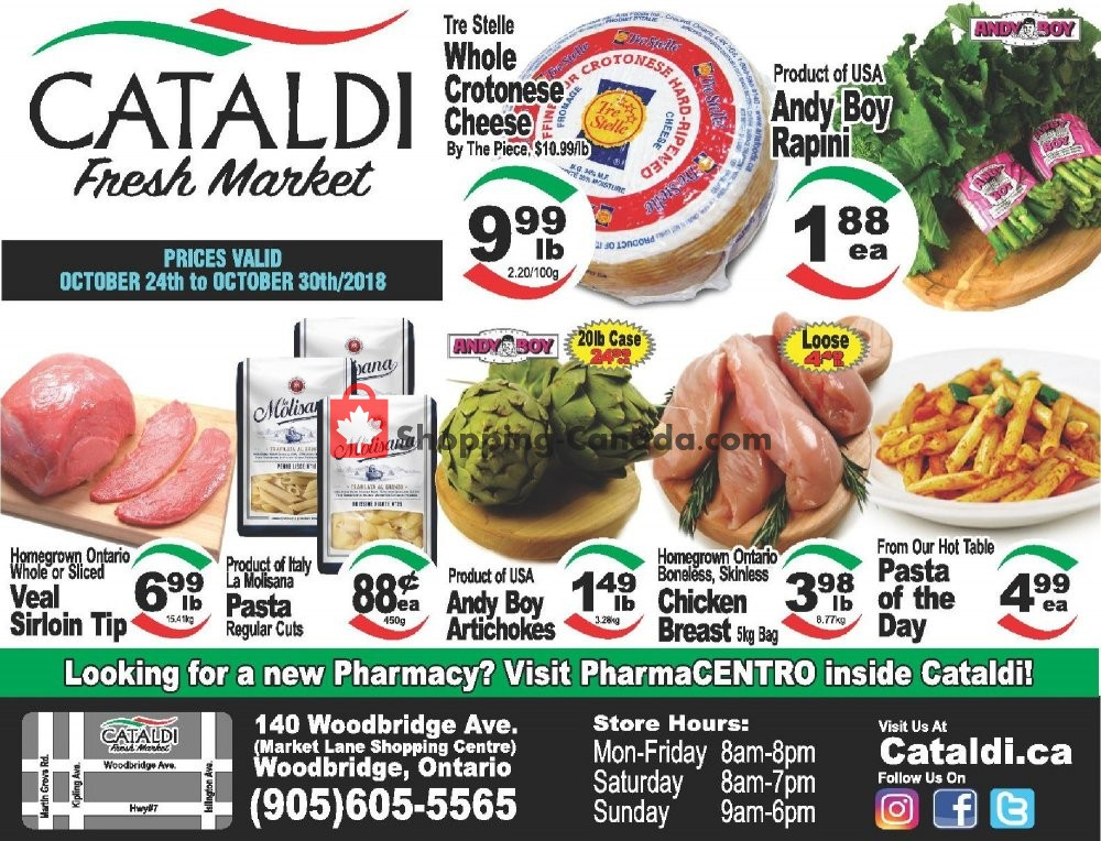 Flyer Cataldi Fresh Market Canada - from Wednesday October 24, 2018 to Tuesday October 30, 2018